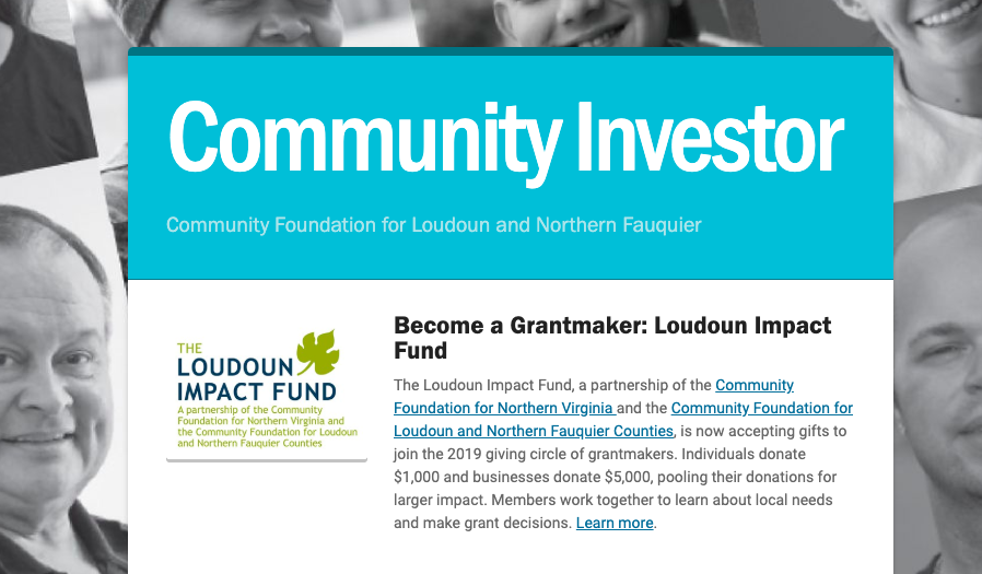 Community Investor Newsletter – May 2019