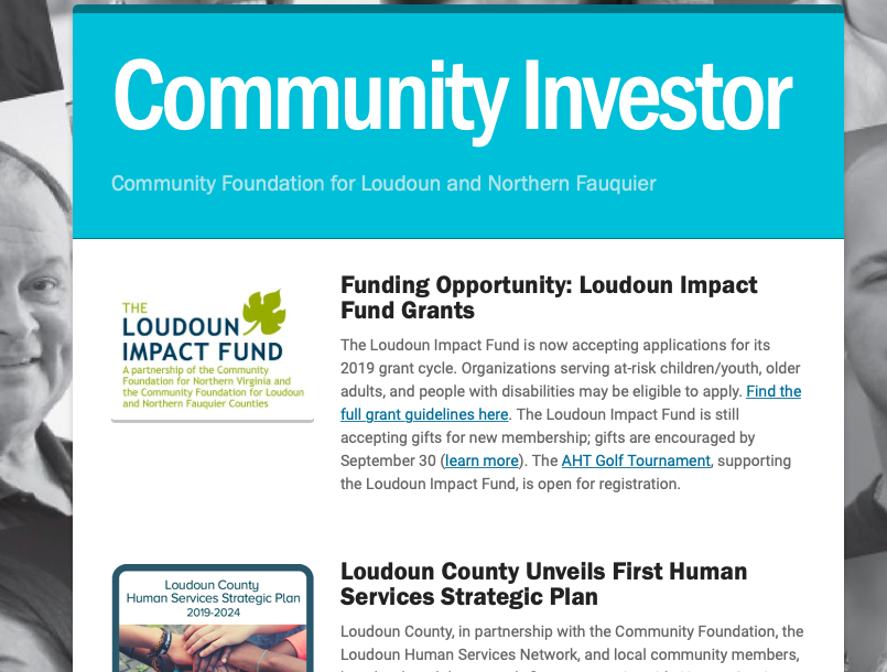 Community Investor Newsletter — September 2019