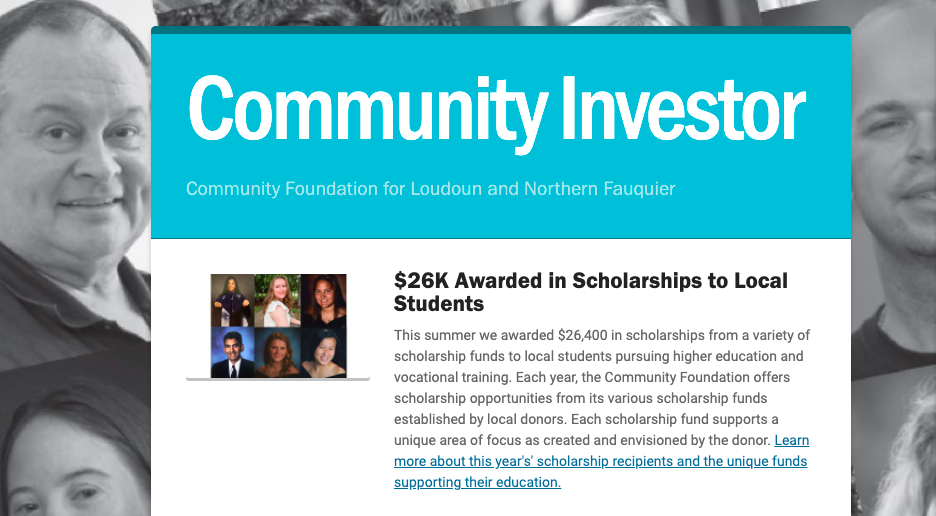 community investor newsletter