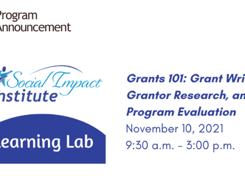 Grants 101: Grant Writing, Grantor Research, and Program Evaluation